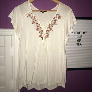 Tops - White lace shirt